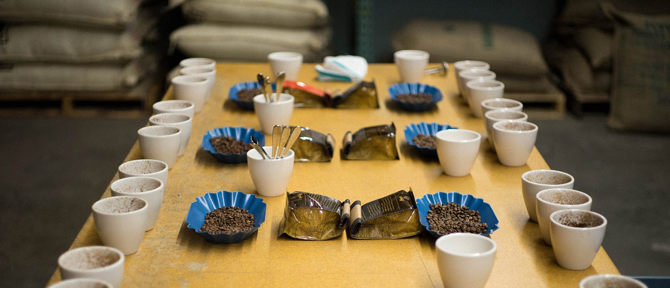Cupping coffee at Coava